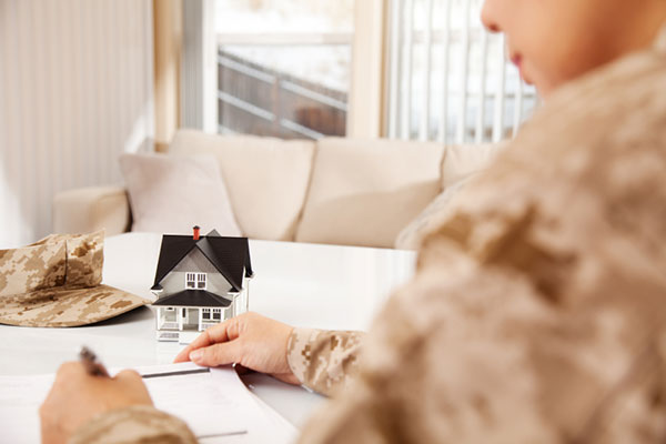 Military woman planning budget