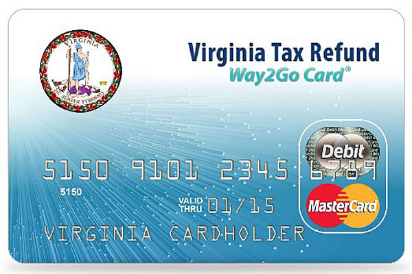 Virginia's Way2Go tax refund debit card