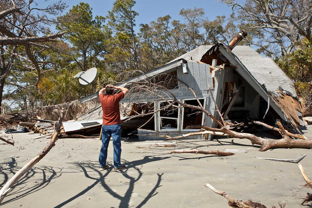 A Home Destroyed By A Natural Disaster