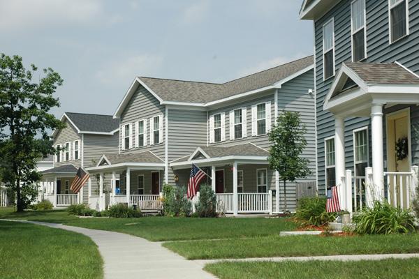New patriotic homes.