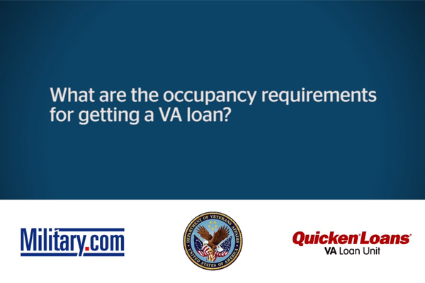 va loan qa occupancy requirements