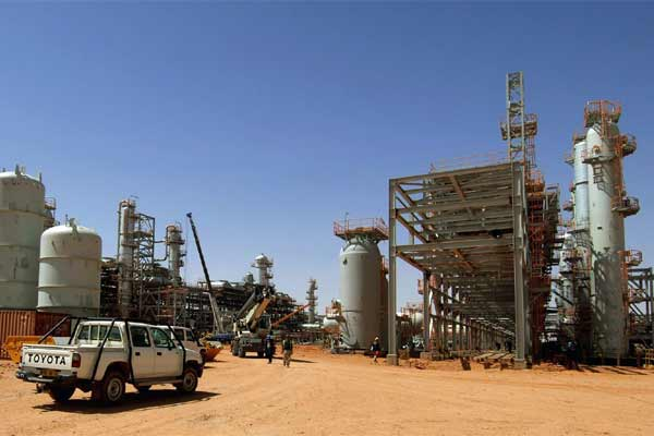 The Ain Amenas gas field in Algeria, where Islamist militants raided and took hostages Wednesday Jan. 16, 2013
