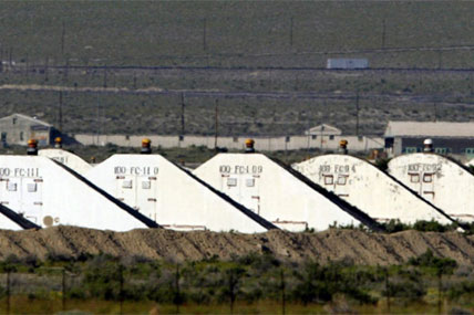 Storage bunkers at the U.S. Army Depot in Hawthorne, Nev. Seven Marines from a North Carolina unit were killed and several injured in a training accident at the Hawthorne Army Depot, the Marine Corps said Tuesday, March 19, 2013.