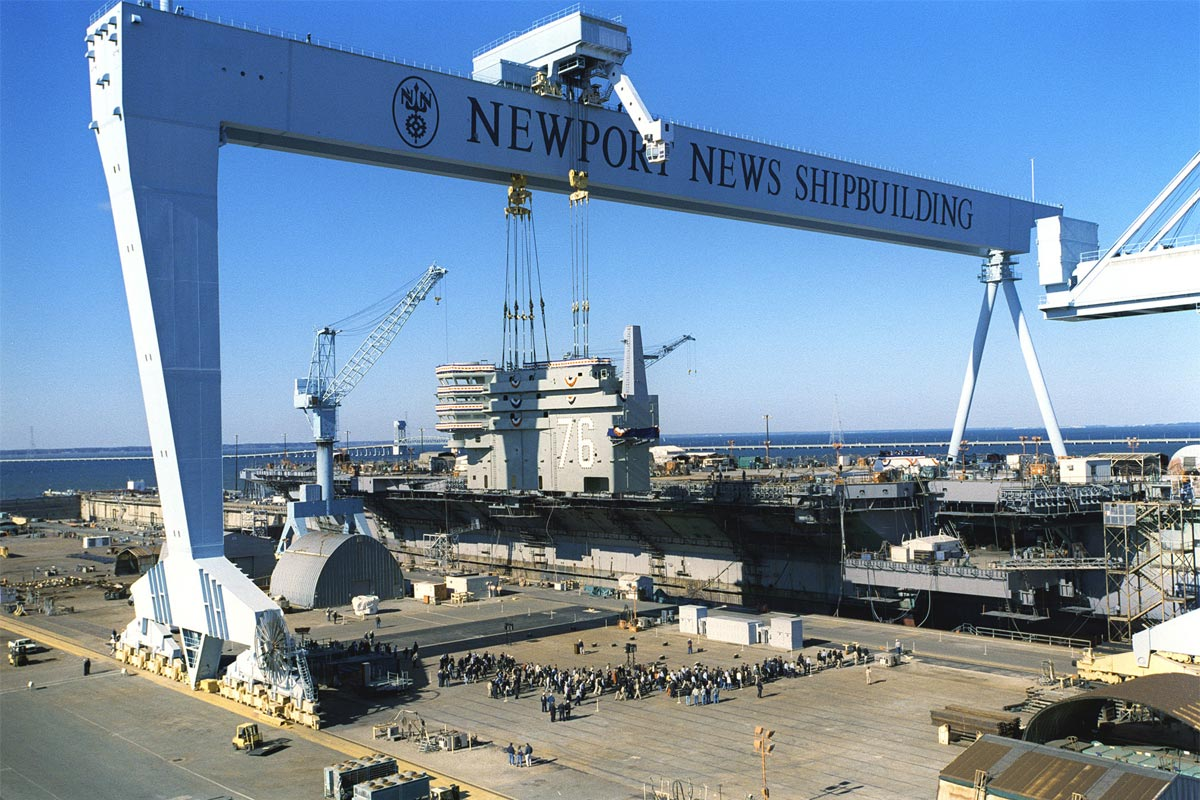 Newport News Shipyard Cites Progress On Carrier Kennedy