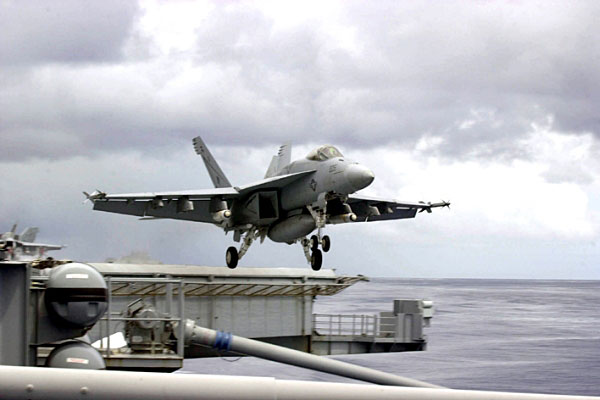 Super Hornet off Iraq