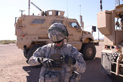 Troops Evaluate Latest High-tech Network