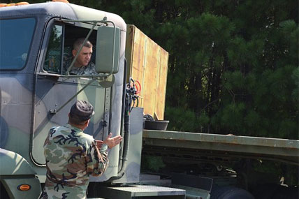 Veterans becoming truck drivers