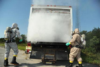 Hazardous material response exercise 428x285