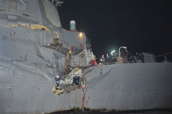USS Porter After 2012 Collision