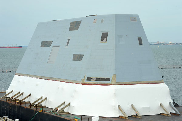 deckhouse for the future USS Zumwalt 600x400