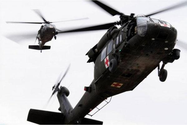 Army UH-60 Medevac Black Hawk helicopters 600x400