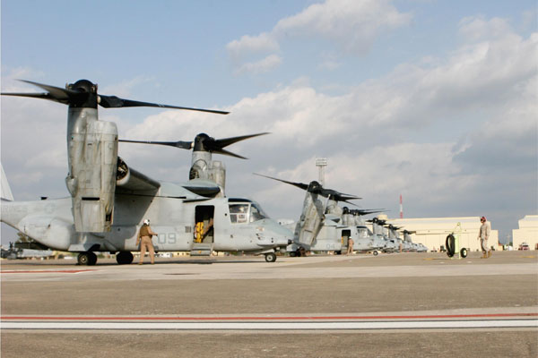 MV-22B Ospreys 600x400