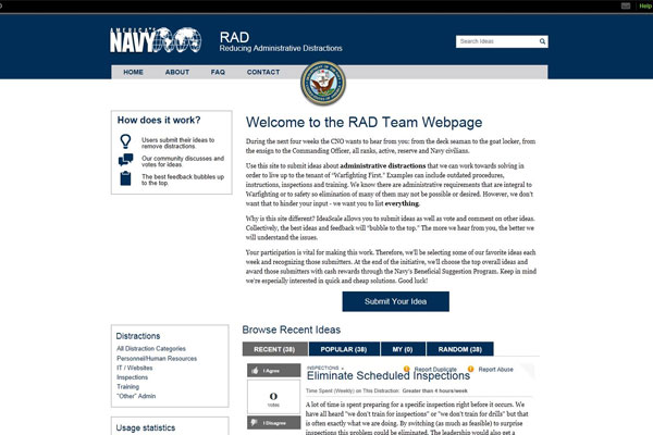 Navy Reducing Administrative Distractions website 600x400