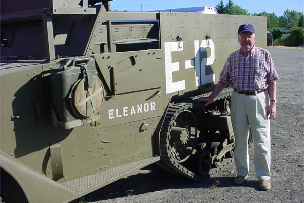 restored World War II-era halftrack 600x400