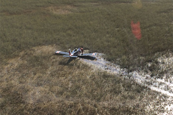 downed Piper Cherokee single engine aircraft 600x400
