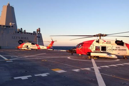 Coast Guard MH-60 Jayhawk helicopters