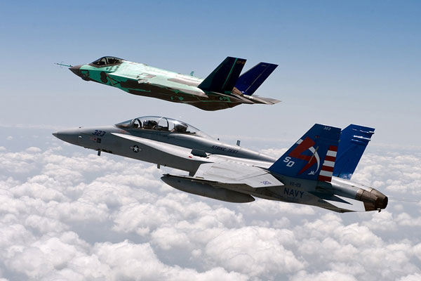 Hornet with JSF