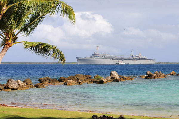 Us Navy Bases Second Submarine Support Ship On Guam