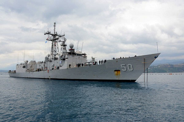 The U.S. frigate Taylor is the latest vessel to enter the Black Sea following rising tensions with Russia over incursions in Ukraine. (U.S. Navy photo)