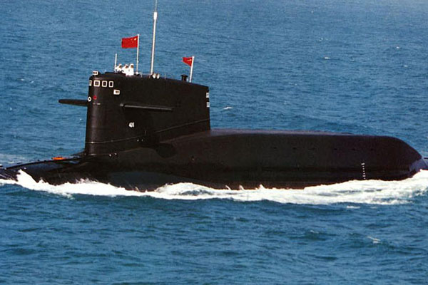 Chinese submarine. People's Liberation Army Navy photo