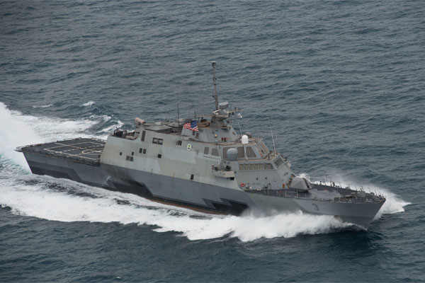 Official U.S. Navy file photo of the littoral combat ship USS Fort Worth (LCS 3).