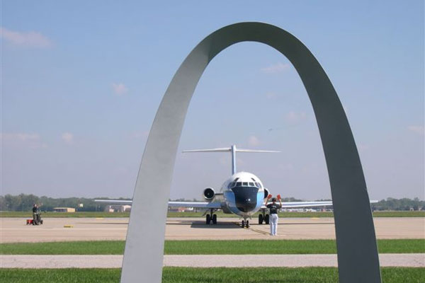 "The 932nd Airlift Wing is known as the ""Gateway Wing"" because Scott Air Force Base is less than 30 minutes from Saint Louis. The wing flies the C-9C aircraft. (U.S. Air Force photo)"