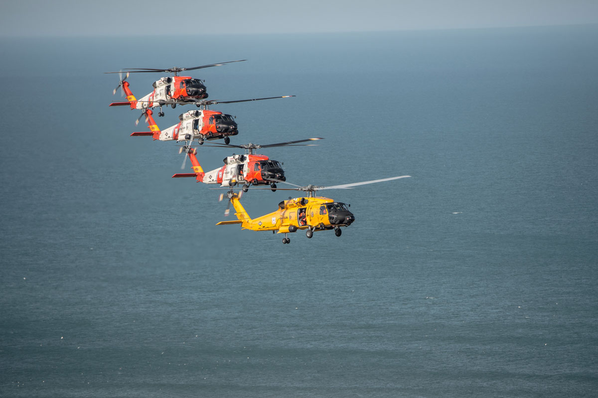 helicopters to change at michigan coast guard air station