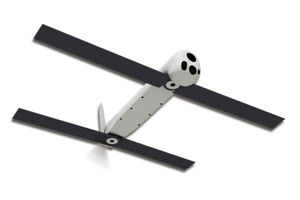 "The Switchblade is a small ""kamikaze"" drone designed to be launched by a service member but which can also be tossed out of the back of an MV-22 Osprey for precision target acquisition. (Image courtesy AeroVironment"