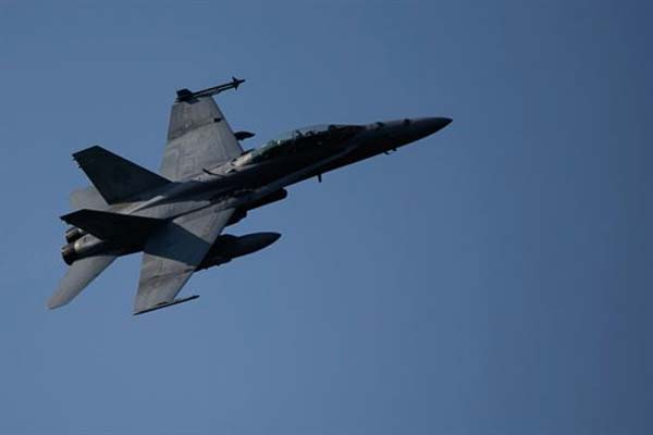FILE PHOTO - A U.S. Marine F/A-18 Hornet provides close air support. (Marine Corps Photo)