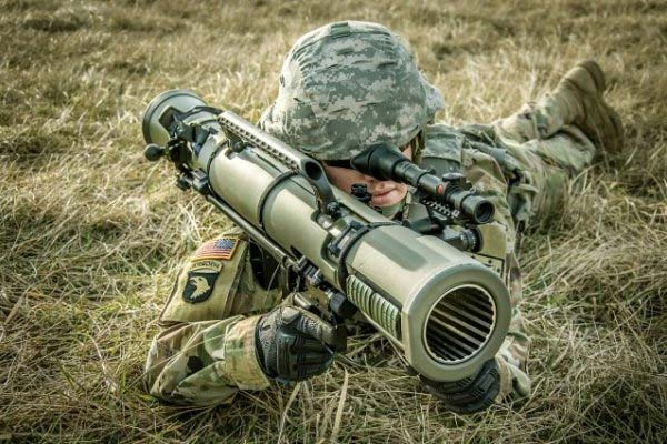 A soldier tests the recoilless rifle known as the M3E1 Multi-role Anti-armor Anti-personnel Weapon System. (Photo: U.S. Army)