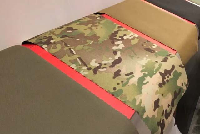 Honeywell's new Centurion fabric can make armored plate carriers up to 40 percent lighter, the company says. Photo by Hope Hodge Seck