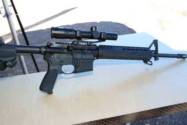 Springfield Armory's new Saint AR15 rifle on Range Day at SHOT Show 2017. Photo: Matthew Cox, Military.com.