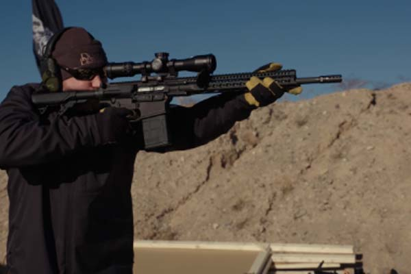 Matt Hurt from Daniel Defense arrives at Range Day with their new DD5V2 and V7S rifles.