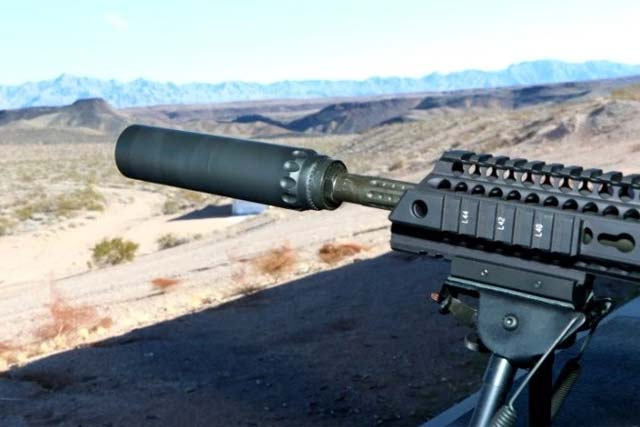 Yankee Hill Machine Co. Inc., unveiled its new Turbo suppressor at SHOT Show 2017. Photo: Matthew Cox, Military.com.