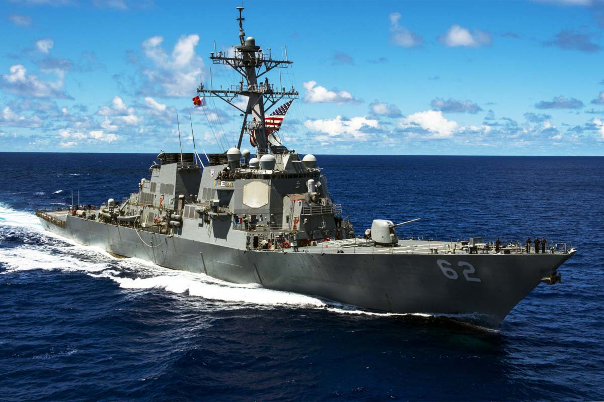 US Navy Destroyer Collides with Japanese Merchant Ship