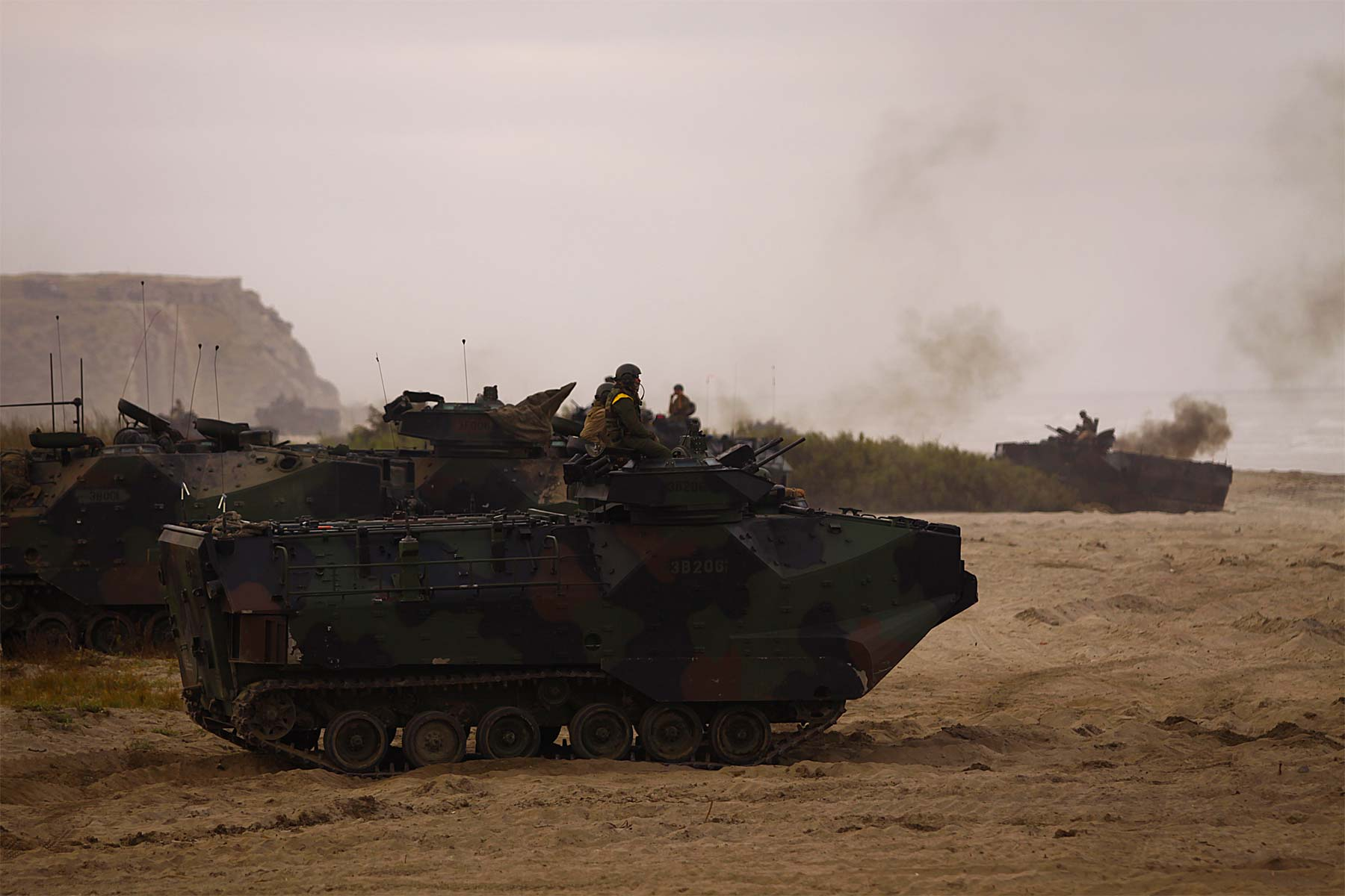 15 Marines Treated for Burns After Amphibious Vehicle Catches Fire