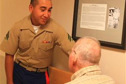 Marine at nursing home 428x285