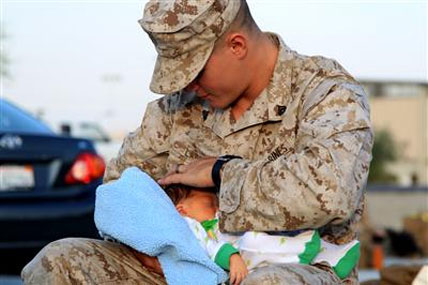 Marine with baby 428x285