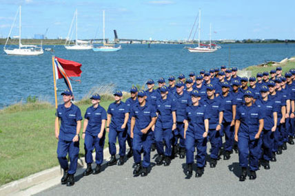 Coast Guard recruits marching 428x285