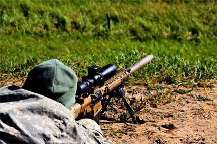 Top Snipers Prepare for Competition | Military.com M110 Sniper Rifle Suppressed