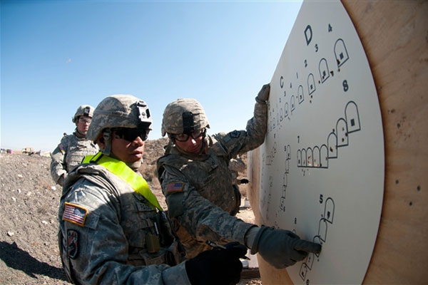 Soldiers at firing range 600x400