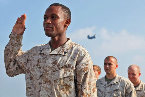 Marine Corps Cpl Pierre Justin 600x400