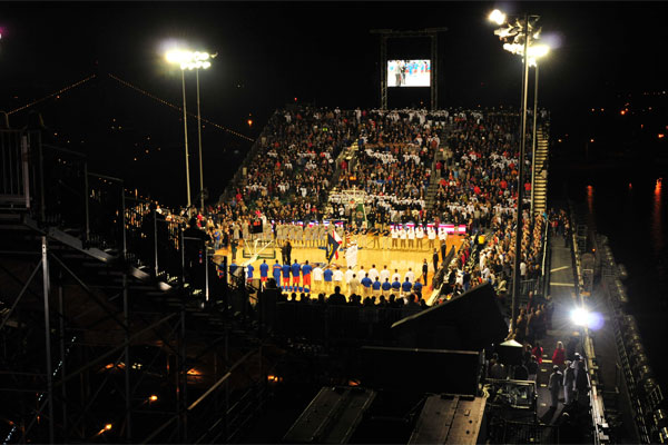 Navy Marine Corps Classic basketball game on USS Bataan 600x400