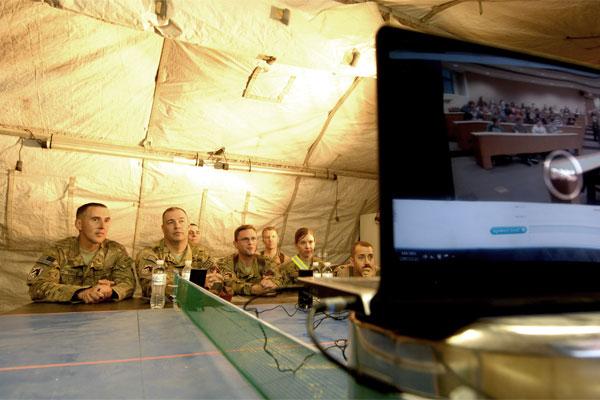 Deployed Airmen on Skype 600x400