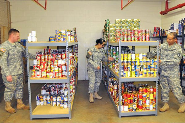 Donated canned goods 600x400
