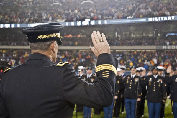 Soldiers at football game 600x400