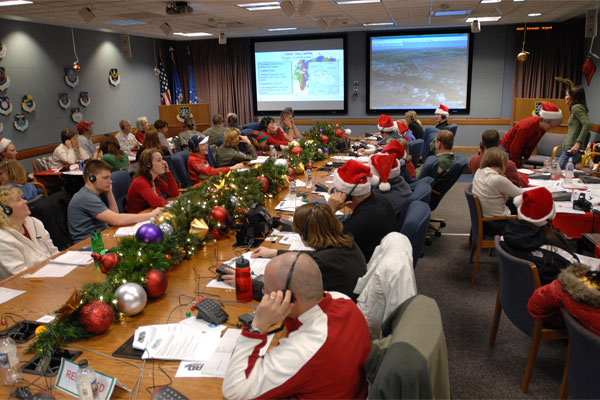 NORAD Volunteers Track Santa