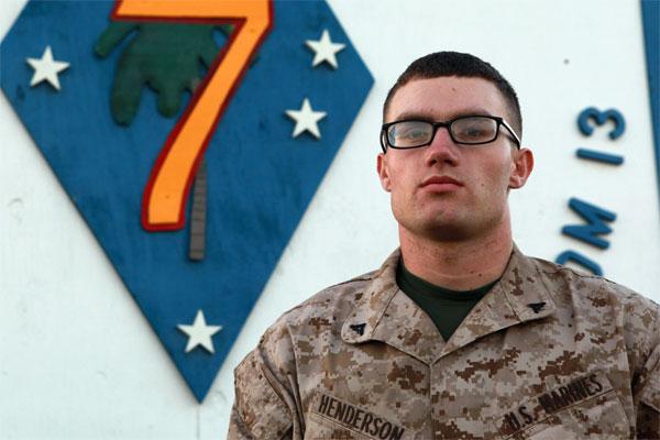 Marine Corps Lance Cpl. Adam Henderson 600x400