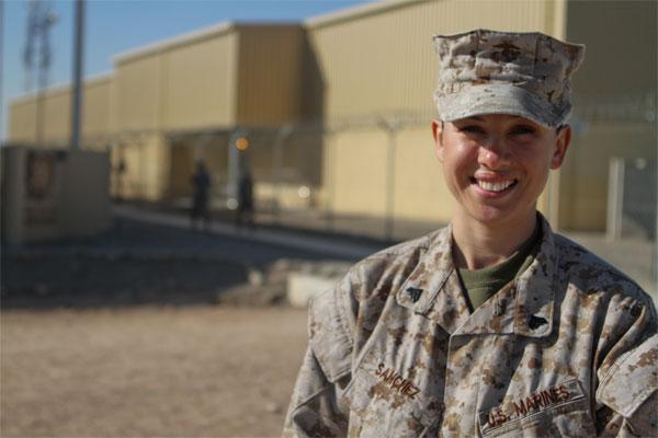 Marine Corps Cpl. Rocio Sanchez 600x400