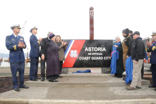 Coast Guard members in Astoria 600x400